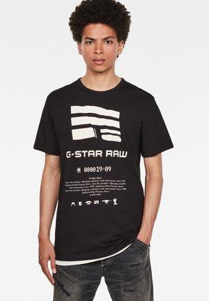 GRAPHIC LOGO - T-shirt print - dk black