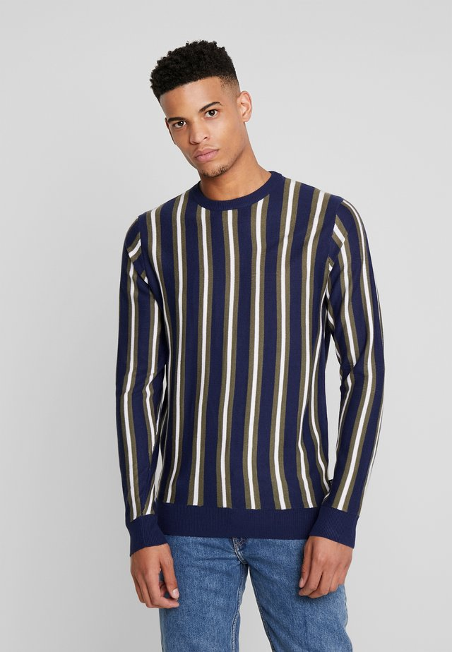 COLLARD - Strikkegenser - navy