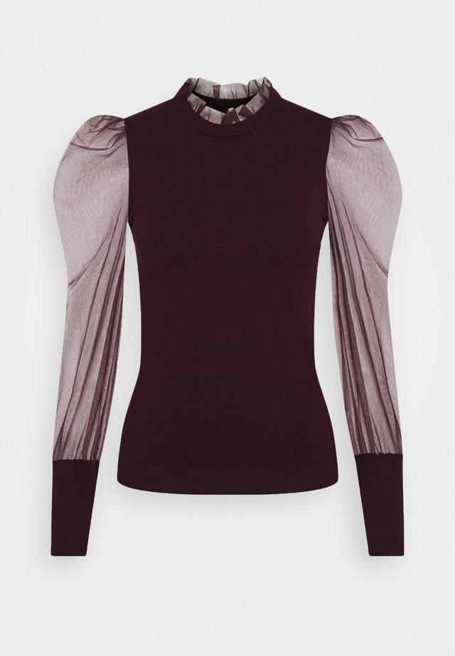 MIBI - Långärmad tröja - aubergine