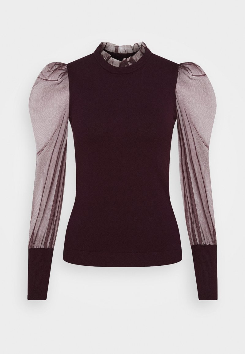 Morgan - MIBI - Long sleeved top - aubergine