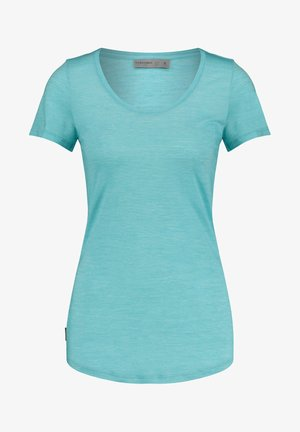 WMNS SPHERE S/S SCOOP - Basic T-shirt - blau