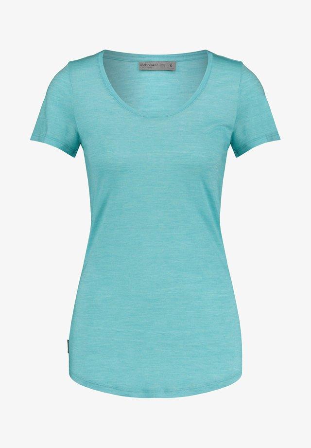 WMNS SPHERE S/S SCOOP - Basic T-shirt - blau