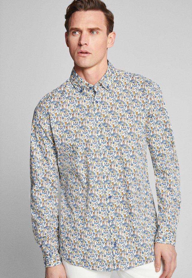 HELI - Shirt - hellblau gemustert