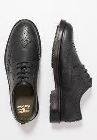Barbour - OUSE - Smart lace-ups - black - 1