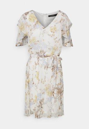 GEORGETTE DRESS - Day dress - col cream