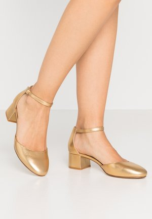 LEATHER CLASSIC HEELS - Tacones - gold