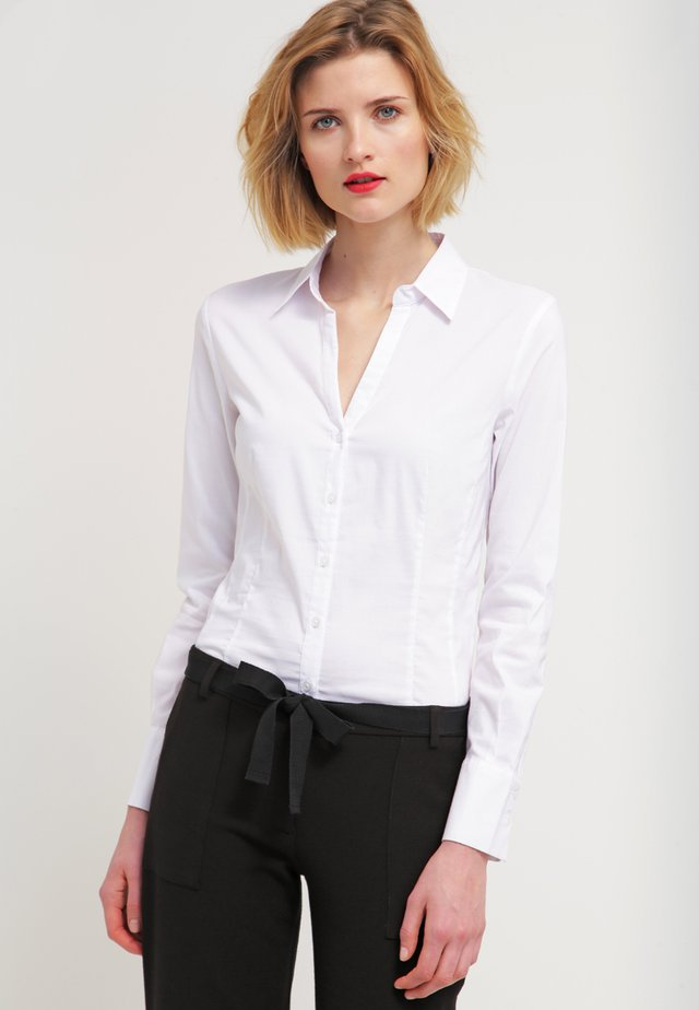 BLOUSE BILLA - Button-down blouse - white