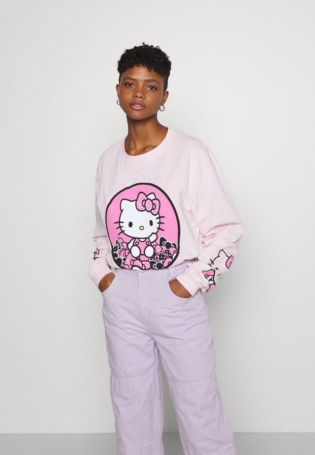 SLEEVE PRINT - Långärmad tröja - pink