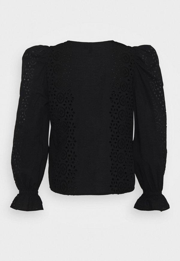 Vero Moda Petite VMDEJA - Bluzka - black/czarny XRQG