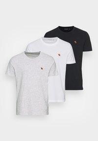 EXPLODED LIFELIKE 3 PACK - Basic T-shirt - white/gray/black