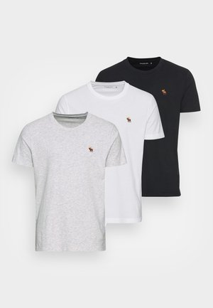 EXPLODED LIFELIKE 3 PACK - T-shirts - white/gray/black