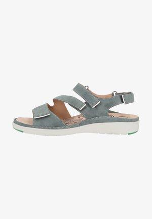 Sandalen met plateauzool - salvia
