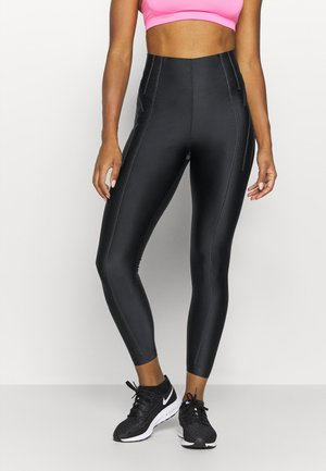 CITY READY CORDING 7/8 - Legginsy - black/reflect black