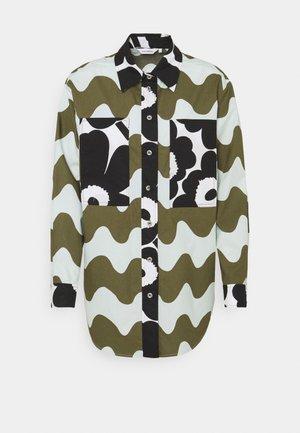 CO CREATED HOPEASINI SHIRT - Shirt - dark green/off-white/black