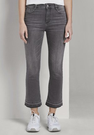 TOM TAILOR - Flared Jeans - grey denim