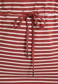 ONLY Carmakoma - CARAPRIL KNEE DRESS STRIPE - Jersey dress - apple butter/cloud dancer - 2