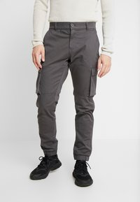 Only & Sons - ONSCAM STAGE CUFF - Cargo trousers - grey pinstripe - 0