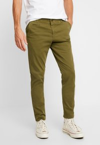Knowledge Cotton Apparel - JOE STRETCHED  - Kalhoty - burned olive - 0