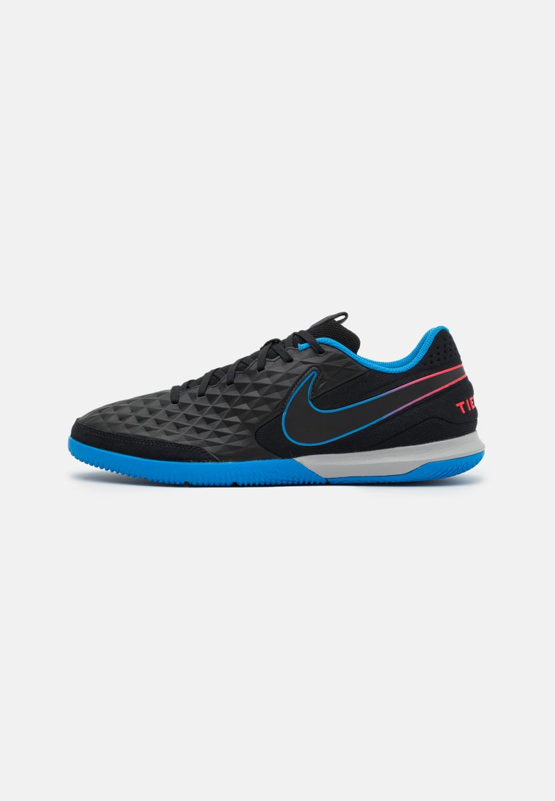 Nike Performance - TIEMPO LEGEND 8 ACADEMY IC - Indoor football boots - black/siren red/light photo blue
