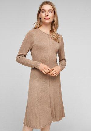 JURKEN - Jumper dress - beige melange