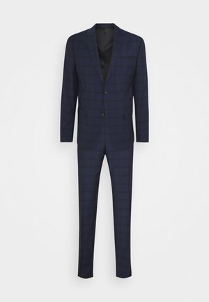 TELA CHECK NATURAL SUIT - Costume - blue