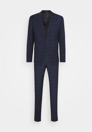 TELA CHECK NATURAL SUIT - Oblek - blue