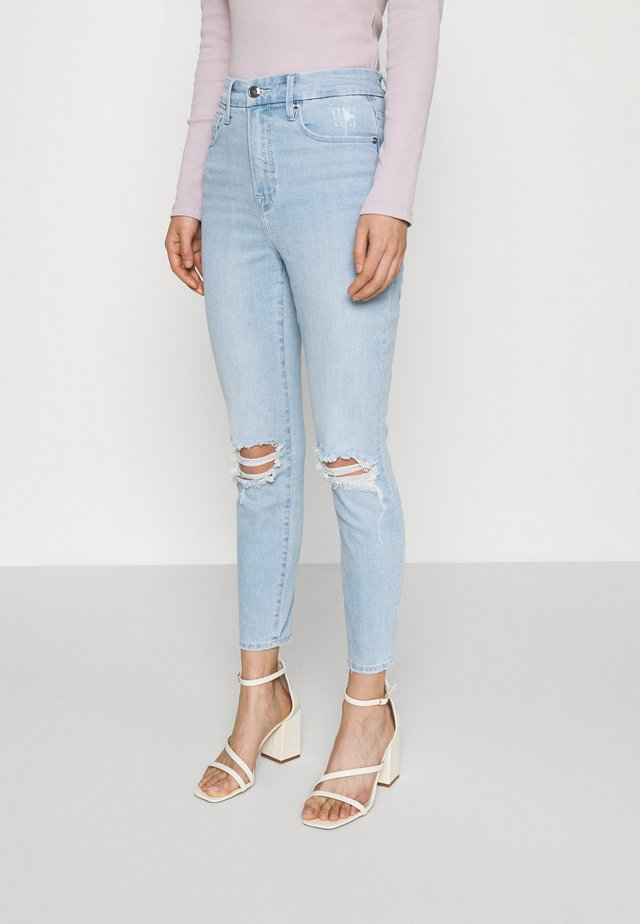 WAIST CROP - Slim fit jeans - blue