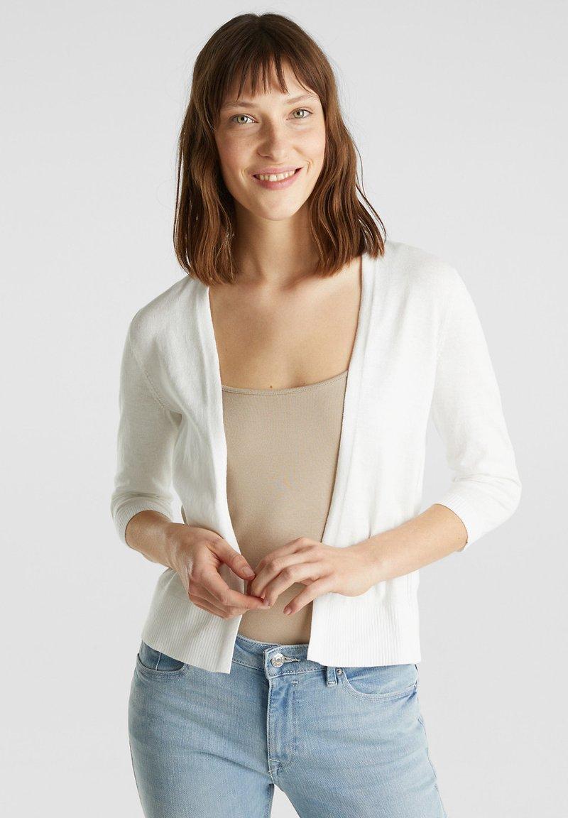 Esprit - OFFENER - Cardigan - off white