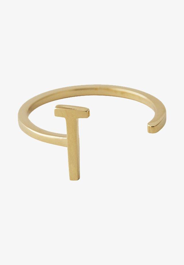 RING T - Ring - gold