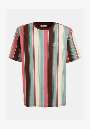 STREIFENMUSTER - Print T-shirt - hellblau