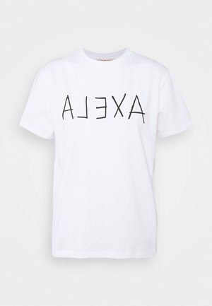 ALEXA BOXY TEE - T-Shirt print - white