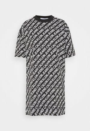 DRESS - Jersey dress - black/white