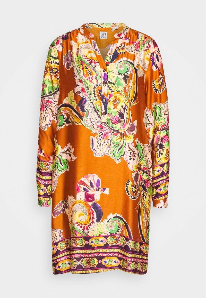 Emily van den Bergh - Day dress - camel/multicolour