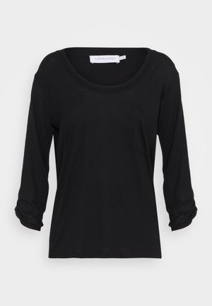 SIALINA - Long sleeved top - pitch black