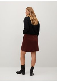 Violeta by Mango - SIENNA - Pencil skirt - rot - 2