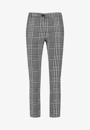 MIT GLENCHECK-KARO - Trousers - black gemustert