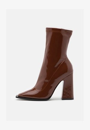 VALENCIA - High heeled ankle boots - brown