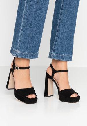 HUSKY - High heeled sandals - black