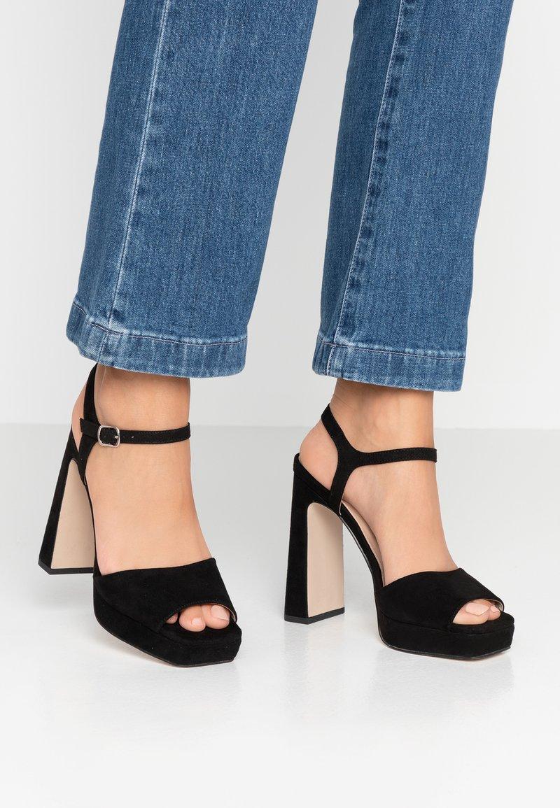 Office - HUSKY - Sandály na vysokém podpatku - black