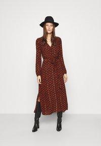 Fabienne Chapot - ISABELLA ISA DRESS - Kjole - black/rust - 1