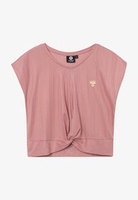 Hummel - HMLLIV - Print T-shirt - ash rose - 2