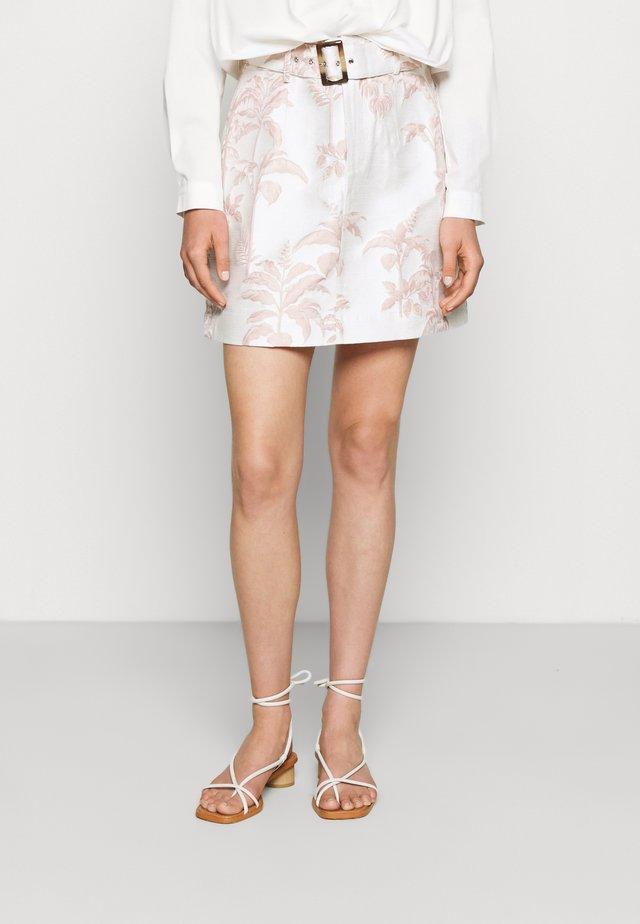 APRYL - Mini skirt - white