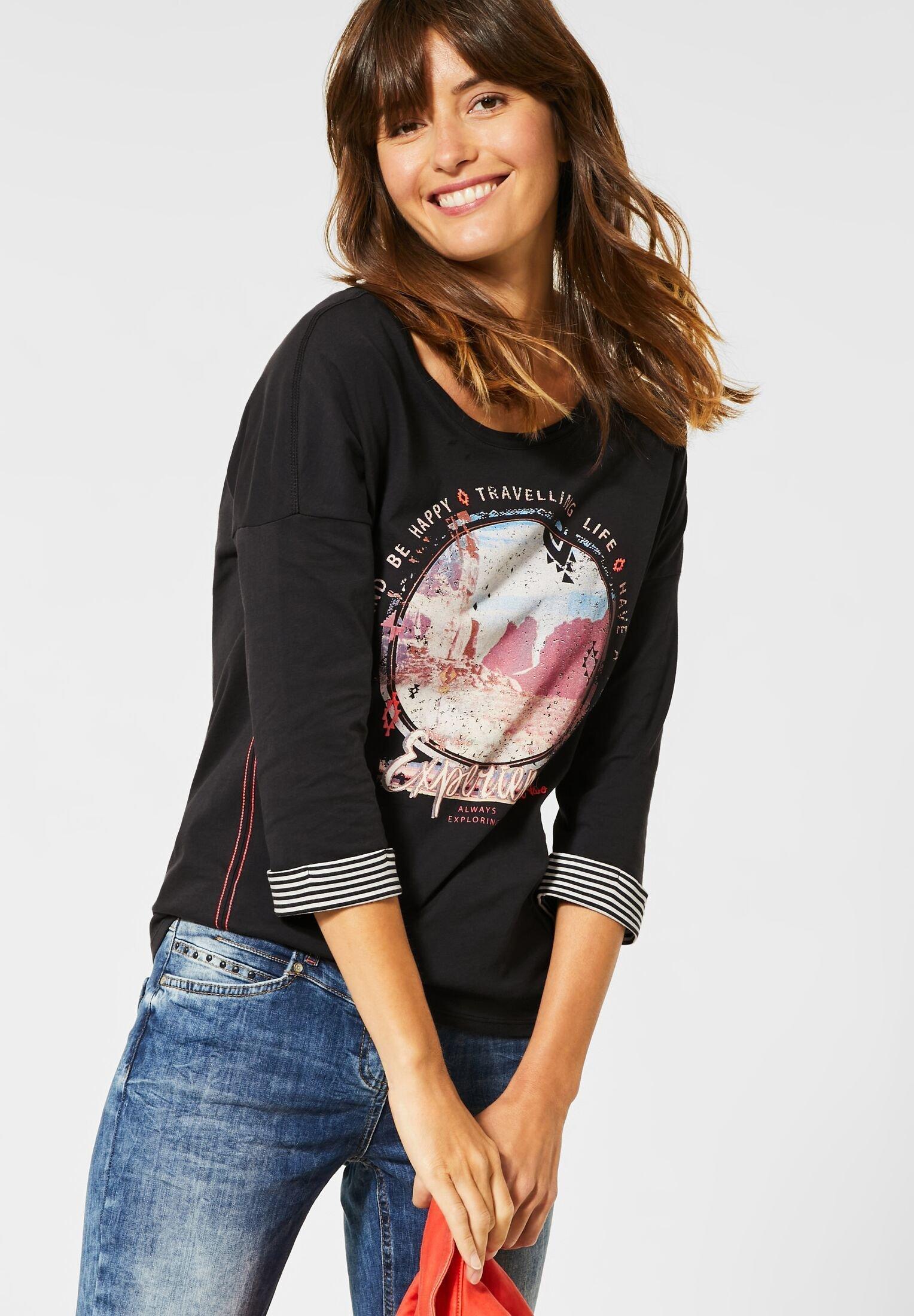 Damen MIT FRONTPRINT - Langarmshirt