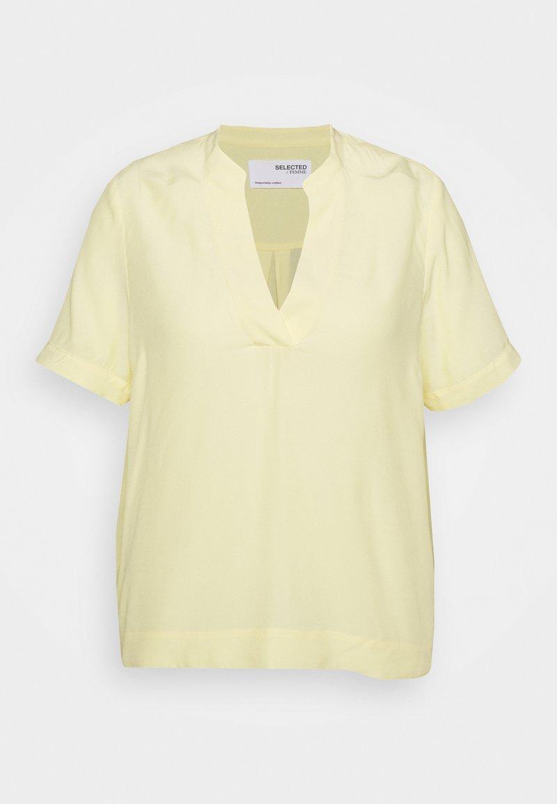 Selected Femme Curve - SLFALLA CURVE - Pusero - pastel yellow