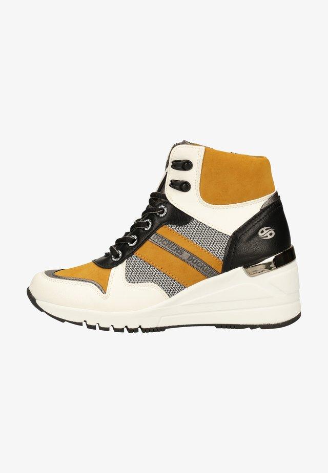 Sneakers hoog - weiss/grau
