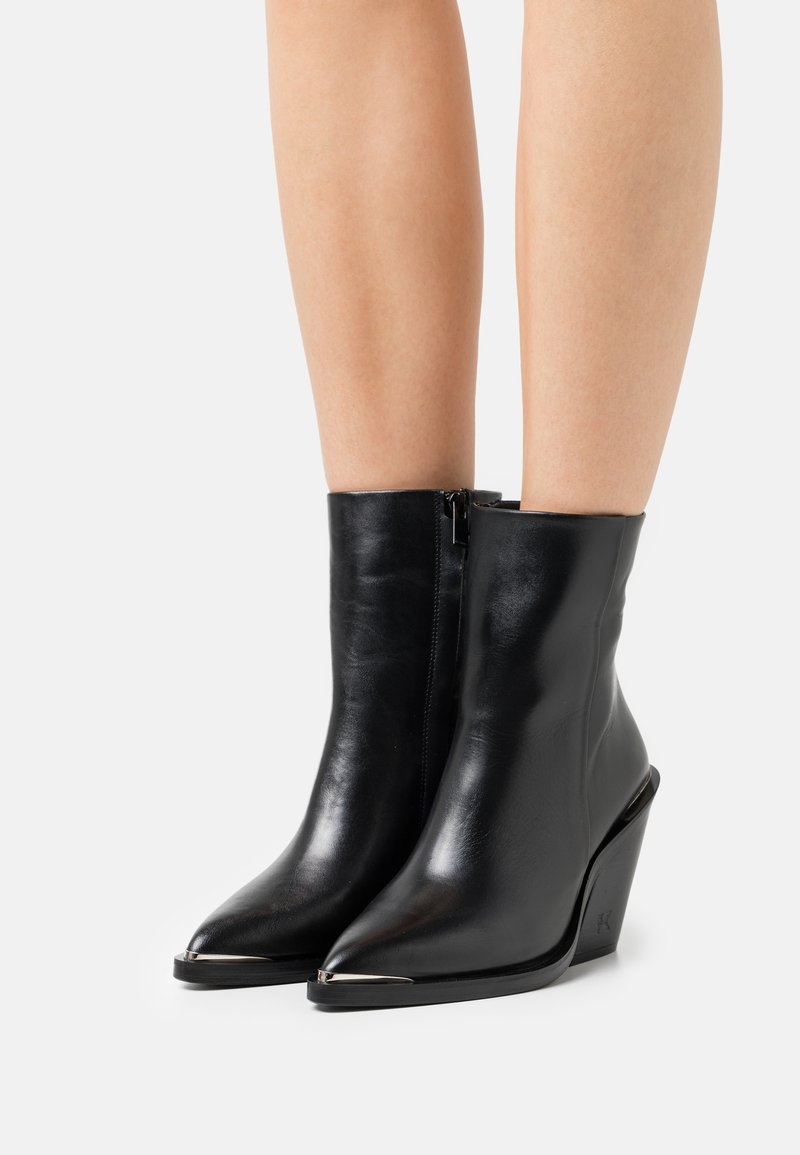 The Kooples - Kotníková obuv na vysokém podpatku - black