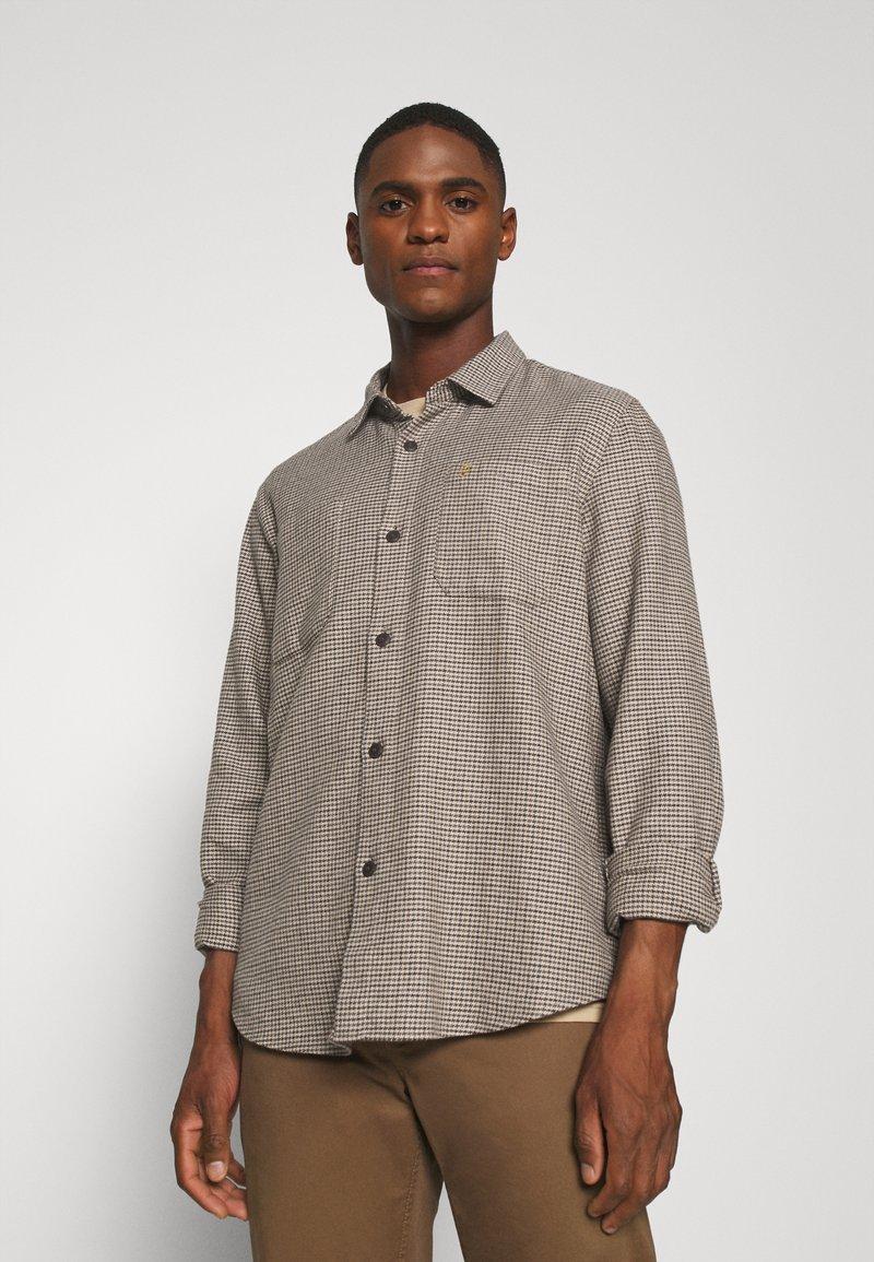 Farah - DEKKER CHECK OVERSHIRT - Shirt - beige