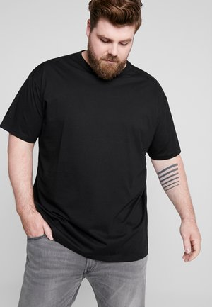 BASIC TEE PLUS SIZE - Basic T-shirt - black