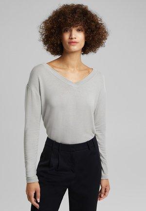 LONGSLEEVE MIT LENZING - Long sleeved top - light grey