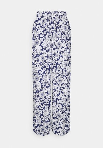 DISA TROUSERS - Trousers - blue flower
